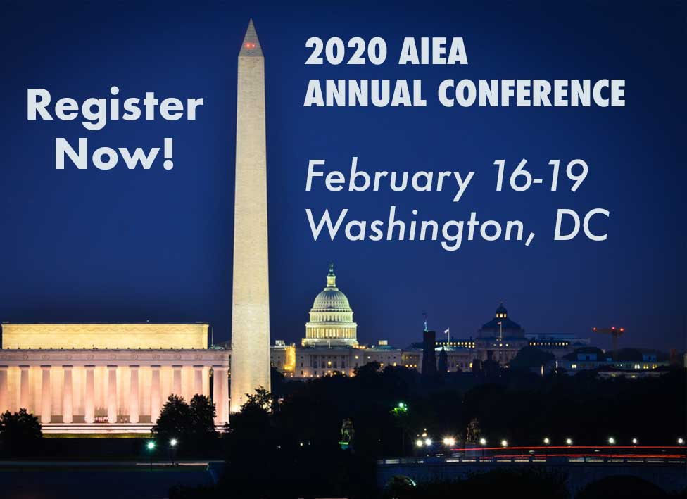 DC at night; Text: Register Now - 2020 Annual Conference February 16-19, 2020
