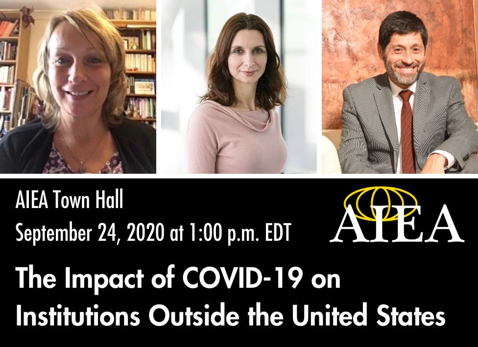 Town Hall Discussion: September 24, 2020 at 1:00 p.m. EDT—The Impact of COVID-19 on Institutions outside the United States