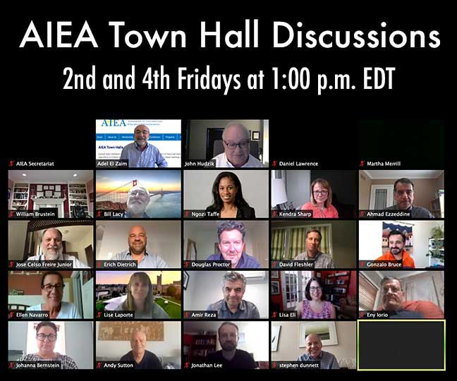 AIEA Town Hall Discussions 2nd and 4th Fridays at 1:00 pm EDT - Photo of zoom meeting participants