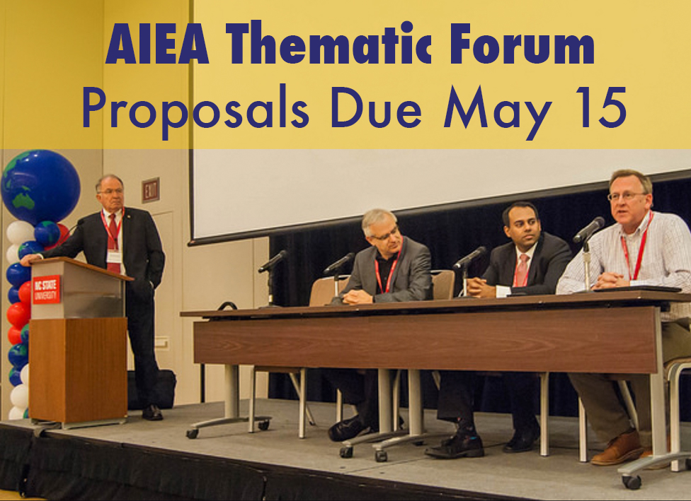 AIEA accepting applications for thematic forums